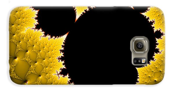Mandelbrot Set Black And Yellow Fractal Art Galaxy S6 Case