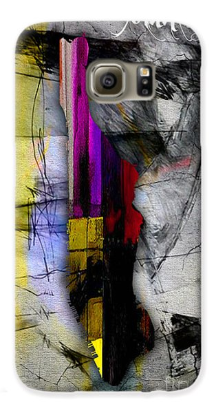 Manhattan Map Watercolor Galaxy S6 Case by Marvin Blaine