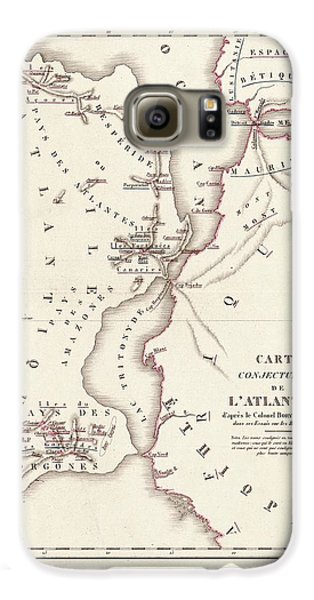 Map Of Atlantis Galaxy S6 Case
