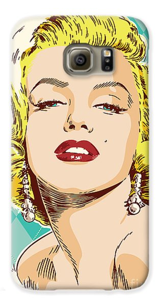 Marilyn Monroe Pop Art Galaxy S6 Case by Jim Zahniser