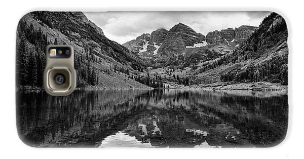 Maroon Bells - Aspen - Colorado - Black And White Galaxy S6 Case
