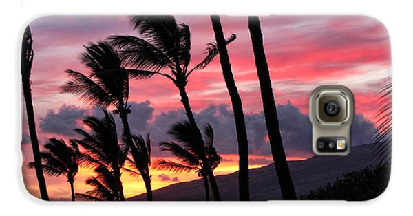 Maui Sunset Galaxy S6 Case by Peggy Hughes