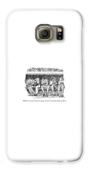 Baseball Players Galaxy S6 Case - Maybe We Weren't Meant To Express Ourselves by Robert Weber