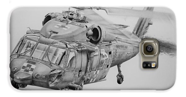 Helicopter Galaxy S6 Case - Medevac by James Baldwin Aviation Art