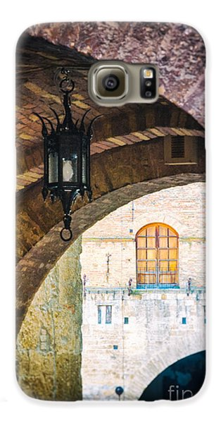 Galaxy S6 Case featuring the photograph Medieval Arches With Lamp by Silvia Ganora