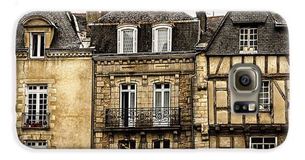 Town Galaxy S6 Case - Medieval Houses In Vannes by Elena Elisseeva