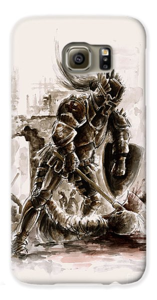 Medieval Knight Galaxy S6 Case by Mariusz Szmerdt