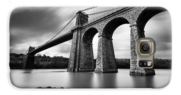 Menai Suspension Bridge Galaxy S6 Case by Dave Bowman