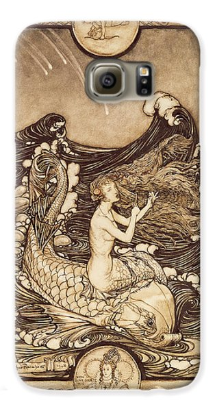 Mermaid And Dolphin From A Midsummer Nights Dream Galaxy S6 Case by Arthur Rackham