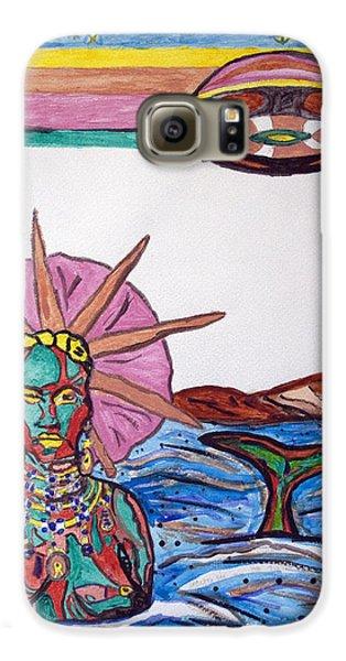 Voodoo Galaxy S6 Case - Yemoja Ufo  by Stormm Bradshaw