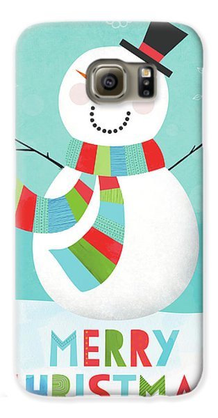 Merry Snowman IIi Galaxy S6 Case by Lamai Mccartan