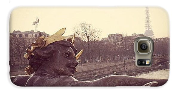 Architecture Galaxy S6 Case - #mgmarts #france #paris #statue #bridge by Marianna Mills