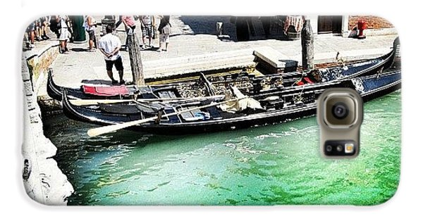 Green Galaxy S6 Case - #mgmarts #venice #italy #europe #canal by Marianna Mills