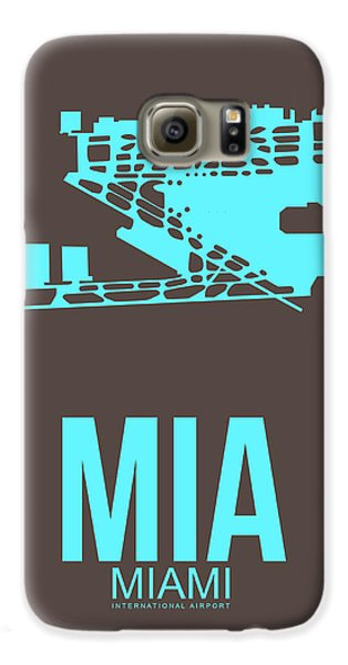 Mia Miami Airport Poster 2 Galaxy S6 Case by Naxart Studio