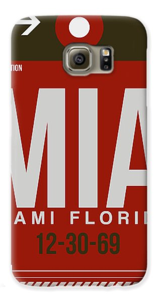 Mia Miami Airport Poster 4 Galaxy S6 Case by Naxart Studio
