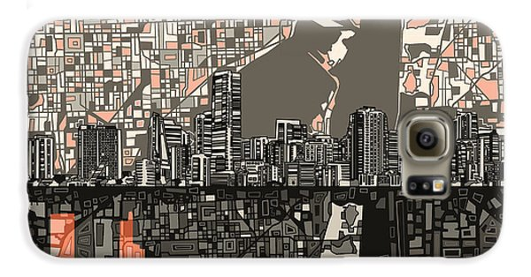 Miami Skyline Abstract 2 Galaxy S6 Case