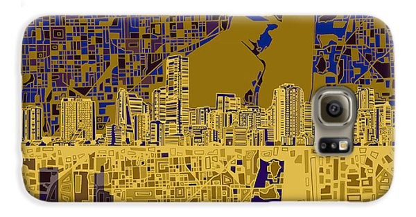 Miami Skyline Abstract 3 Galaxy S6 Case