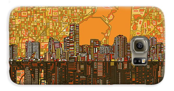Miami Skyline Abstract 5 Galaxy S6 Case
