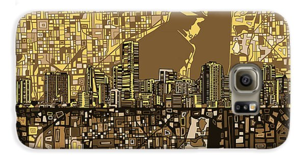 Miami Skyline Abstract 6 Galaxy S6 Case