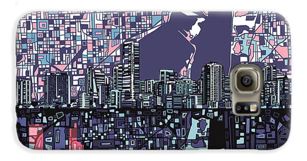 Miami Skyline Abstract Galaxy S6 Case