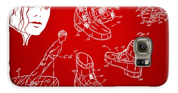 Michael Jackson Anti-gravity Shoe Patent Artwork Red Galaxy S6 Case by Nikki Marie Smith
