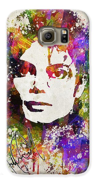 Michael Jackson In Color Galaxy S6 Case by Aged Pixel