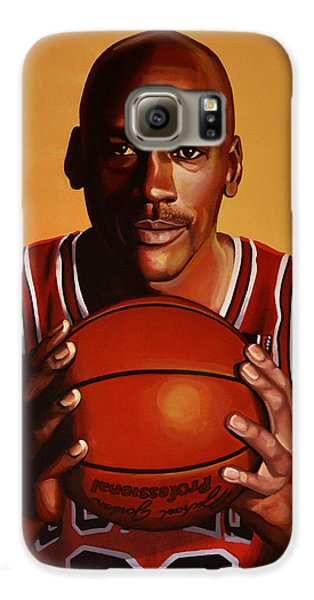 Michael Jordan 2 Galaxy S6 Case by Paul Meijering