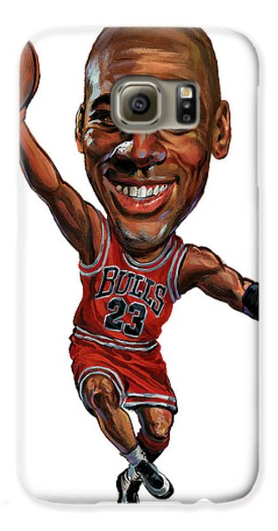 Michael Jordan Galaxy S6 Case by Art