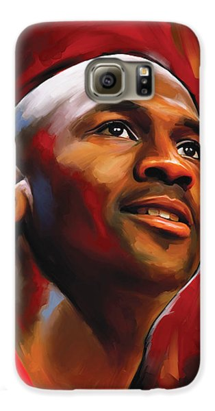 Michael Jordan Artwork 2 Galaxy S6 Case by Sheraz A