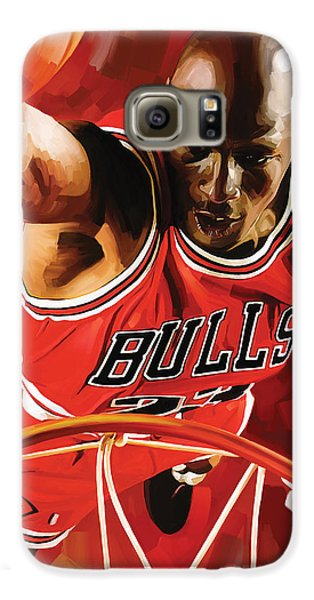 Michael Jordan Artwork 3 Galaxy S6 Case by Sheraz A