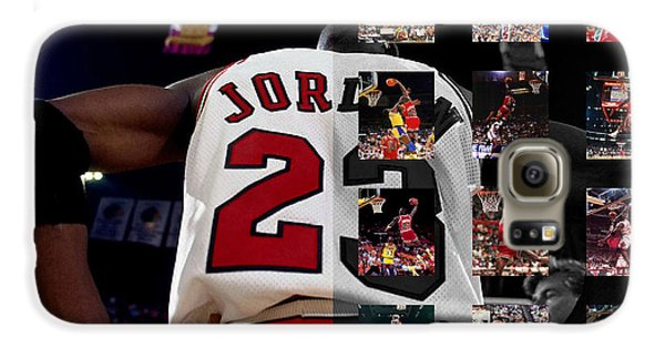 Michael Jordan Galaxy S6 Case by Joe Hamilton