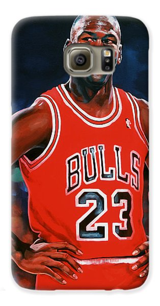 Michael Jordan Galaxy S6 Case by Paul Meijering