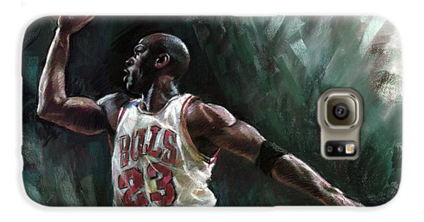 Michael Jordan Galaxy S6 Case by Ylli Haruni