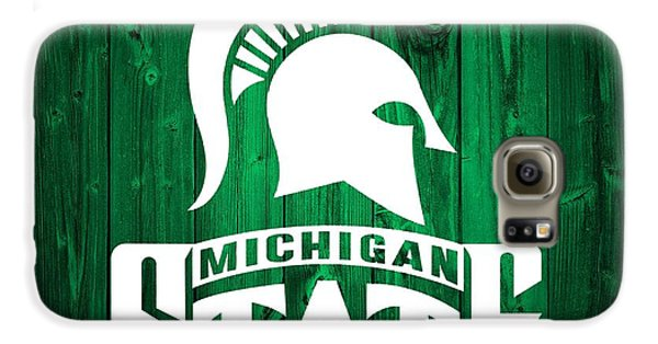 Michigan State Barn Door Galaxy S6 Case by Dan Sproul