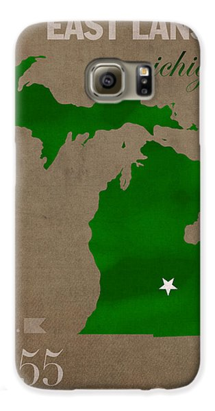 Michigan State University Spartans East Lansing College Town State Map Poster Series No 004 Galaxy S6 Case by Design Turnpike