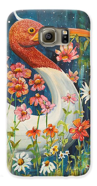 Midnight Stork Walk Galaxy S6 Case