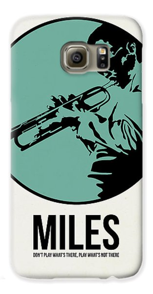Jazz Galaxy S6 Case - Miles Poster 1 by Naxart Studio