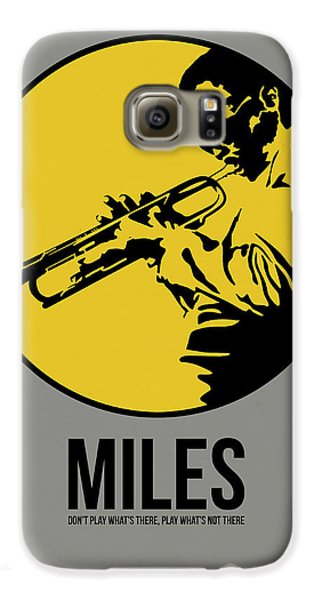 Jazz Galaxy S6 Case - Miles Poster 3 by Naxart Studio