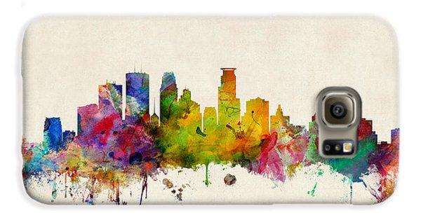 City Scenes Galaxy S6 Case - Minneapolis Minnesota Skyline by Michael Tompsett