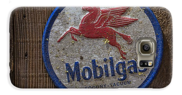 Pegasus Galaxy S6 Case - Mobil Gas Sign by Garry Gay