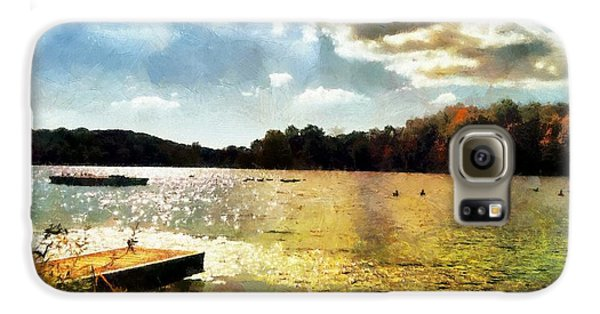 Mohegan Lake Gold Galaxy S6 Case by Derek Gedney