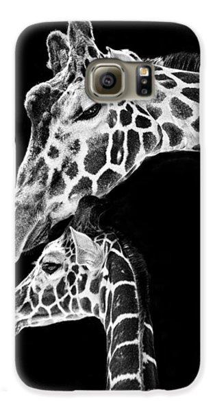 Mom And Baby Giraffe  Galaxy S6 Case by Adam Romanowicz