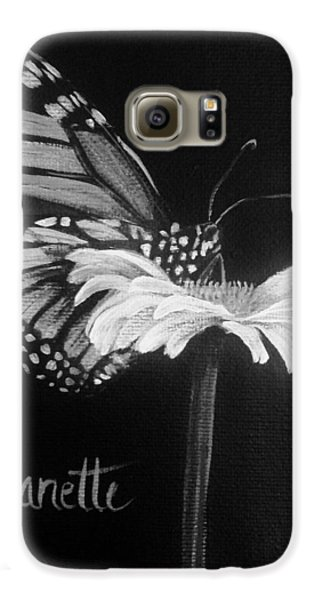 Monarch On A Daisy Galaxy S6 Case