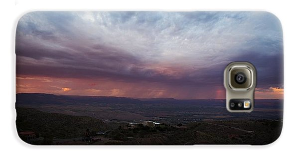 Monsoon Sunset With Vertical Rainbow Galaxy S6 Case