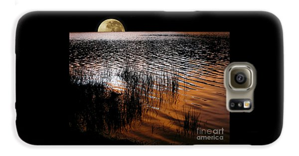 Moon Catching A Glimpse Of Sunset Galaxy S6 Case