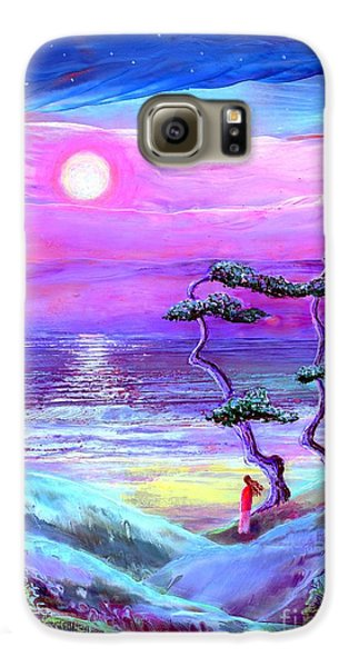 Moon Pathway,seascape Galaxy S6 Case