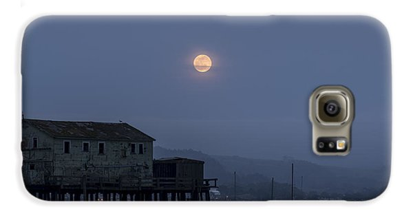 Moonrise Over The Harbor Galaxy S6 Case