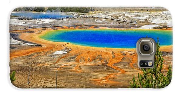 Grand Prismatic Geyser Yellowstone National Park Galaxy S6 Case