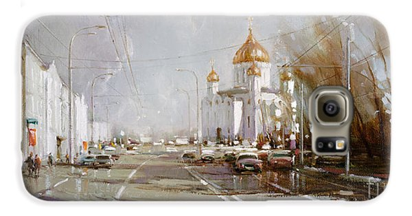 Moscow. Cathedral Of Christ The Savior Galaxy S6 Case by Ramil Gappasov