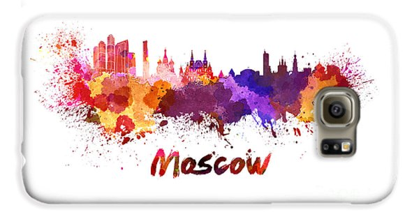 Moscow Skyline In Watercolor Galaxy S6 Case